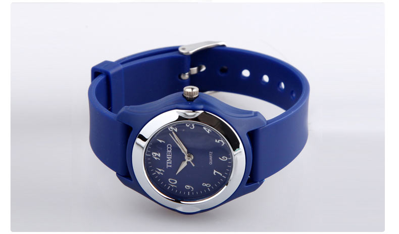 时尚圆形简约果冻手表