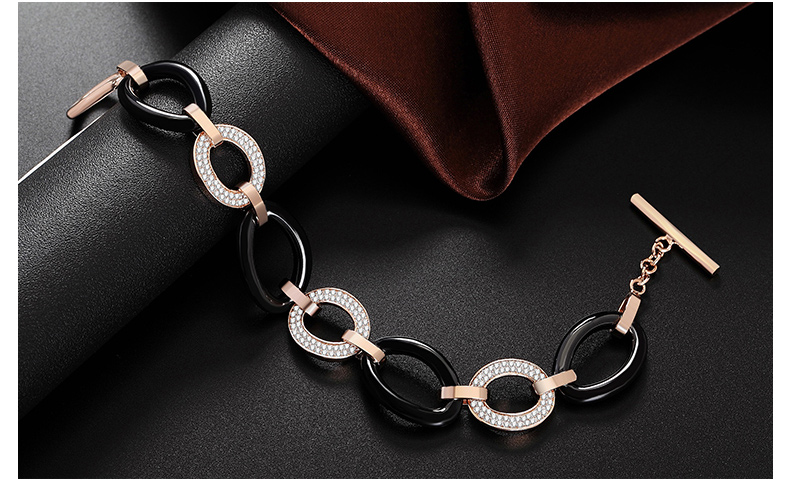 芭比典雅系列 美妙爱的圆舞曲白陶瓷水钻手链
